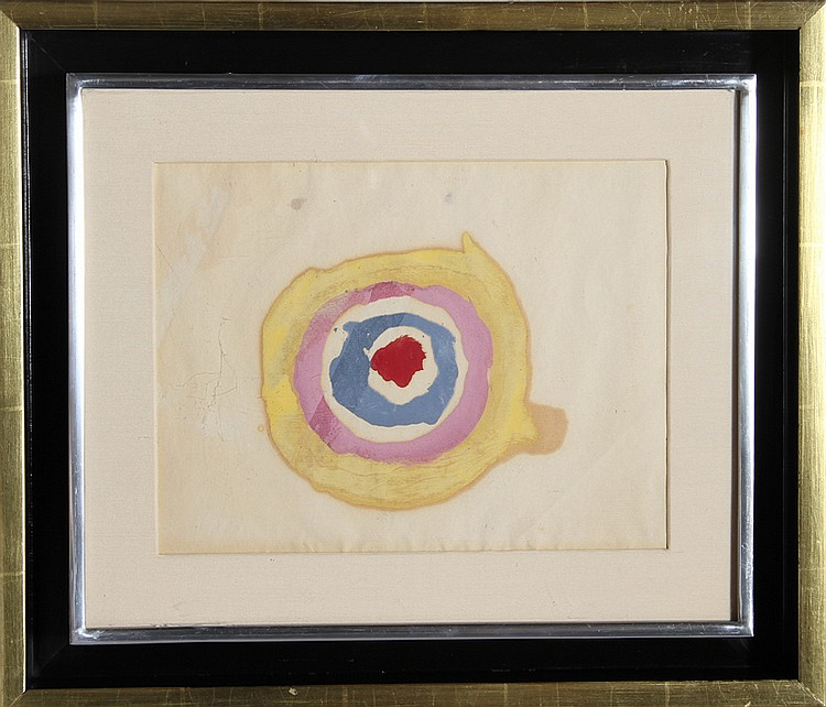 Kenneth Noland, Target, Watercolor