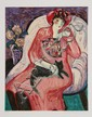 Barbara Wood, Woman with Cat, Serigraph, Barbara A. Wood, Click for value