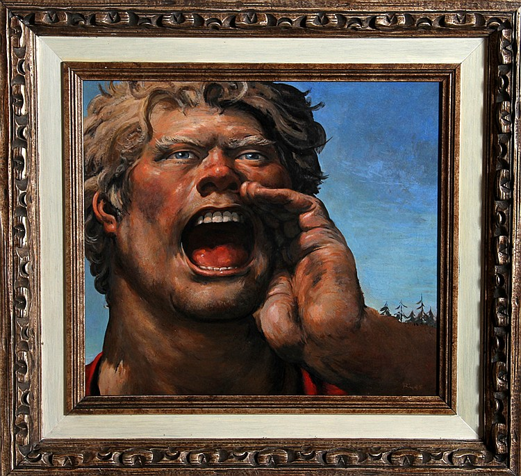 Robert Riggs, Paul Bunyan, Oil Painting