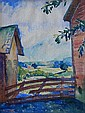 Hans Volck watercolor, Hans H. Volck, Click for value