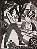 Albert Huie woodcut, Albert Huie, Click for value
