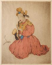 Elyse Ashe Lord etching in colors