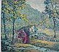 F. Leslie Thompson- ''18th c. Grist Mill,, Flooyd Leslie Thompson, Click for value