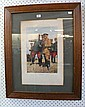 AN EARLY WORLD WAR ONE FRAMED PRINT OF ALLIED GENERALS.