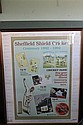 SHEFFIELD SHIELD CRICKET CENTENARY 1892 - 1992 Australia Post poster advertising stamps and other souvenirs of the centenary with si...