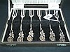 SIX GERMAN SILVER CAKE FORKS, 'Hildesheim Rose' pattern; 835 Standard. (cased)
