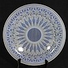 AN ETLING ART DECO GLASS CHARGER. dia 30.5cm.