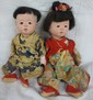 Two Japanese composition baby dolls