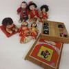 Japanese Doll lot incl. Geisha Dolls, composition baby with box of doll wigs