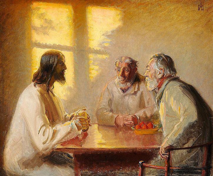 Michael Ancher: The Supper at Emmaus.