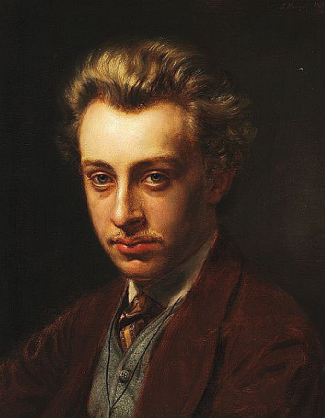 P. S. Krøyer: Portrait of the painter Frans Schwartz, née 1850.