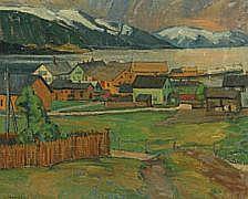 Ernst Zeuthen: Norwegian landscape. Signed Ernst