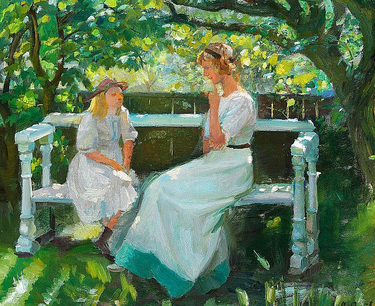 Anna Ancher: In the garden.