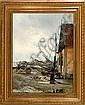 C. F. Aagaard: After the rain, harbour scene from, C. F. Aagaard, Click for value