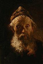 Frans Schwartz : Portrait of a old man with a
