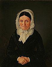 Jean Meno Haas : Portrait of an elderly woman in a