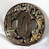 A Japanese Bronze Tsuba, Probably Meijii Period ,