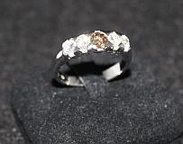A White Gold and Diamond Set Dress Ring