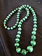 A Malachite Beaded Necklace
