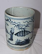 A Chinese Blue and White Brushwasher , Possibly