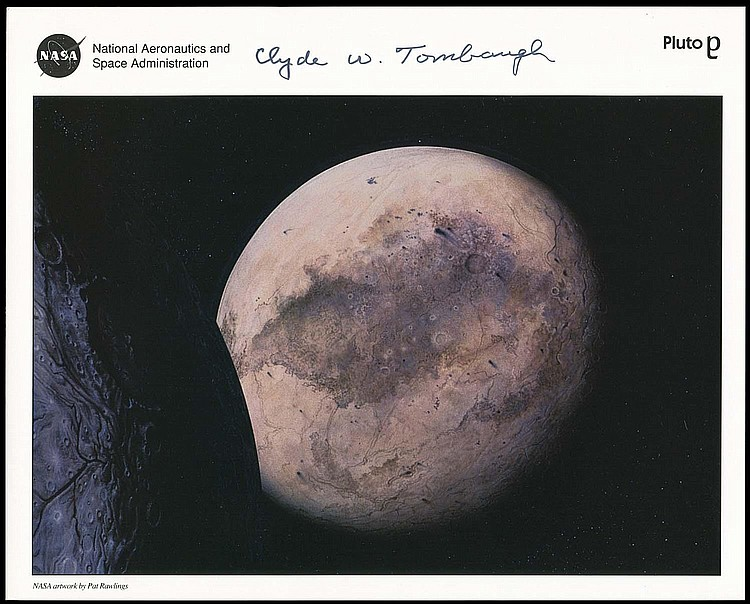 1980 CLYDE W. TOMBAUGH SIGNED LITHO