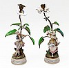 PAIR OF FIGURES CANDLESTICKS