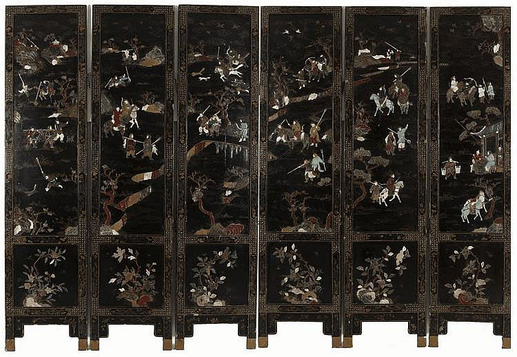 SIX-FOLD ORIENTAL SCREEN