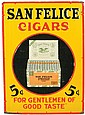 Advertising sign, San Felice Cigars,