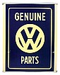 Automotive, Volkswagen light-up sign, plastic &