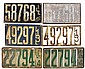 License plates (3 pr), Illinois 1912-1914, Good