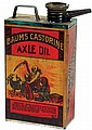 Petroliana, Baum's Castorine Axle Oil, metal can