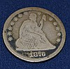 1876 US Seated Liberty Quarter