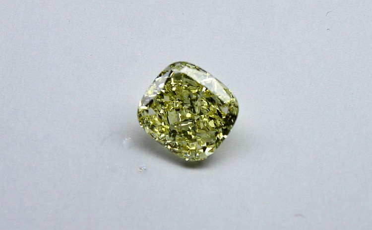 Fancy intense yellow cushion-cut 3.65ct diamond