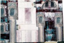 Original KAMY Mixed-Media Architectural Abstract