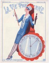 LA VIE PARISIENNE 1926 Cover - Flapper on Barometer