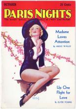 Vintage 1937 PARIS NIGHTS Cover Risque Burlesque Girl