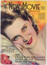 Vintage 1931 THE NEW MOVIE MAGAZINE Cover Norma Shearer
