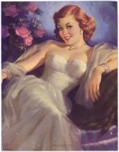 1950s Redhead Pinup by ART FRAHM - Tantalizing Eyes
