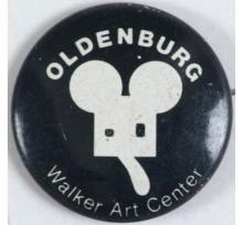 Rare 1971 Art Expo Pinback Button OLDENBURG GEOMETRIC MOUSE