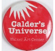 Rare 1977 ALEXANDER CALDER Art Expo Pinback