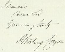 1860 Written Letter Playwright JOSEPH STIRLING COYNE