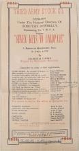 RARE c1919 WWI Theatre Program Germany Third Army Cohan