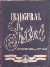 Vintage 1957 Presidential Inaugural Festival Program - Eisenhower & Nixon