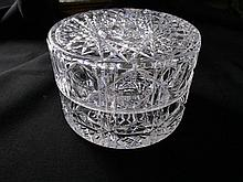 Antique Round Cut Crystal Dresser, Jewelry Box