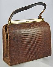 Vintage Alligator Bellstone Handbag