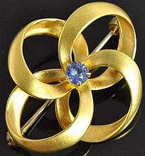 Carter Gough & Co Antique 14K Gold Pinwheel Pin