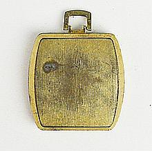Men's Antique Brass Square Pocket Watch