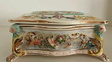 Capodimonte 19th c Porcelain Jewelry Box