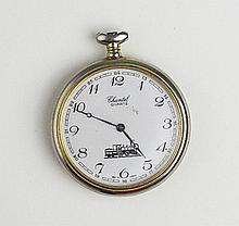 Men's Old Chantel Quartz  Train Pocket Watch