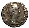 Ancient Roman Coin Diva Faustina Denarius